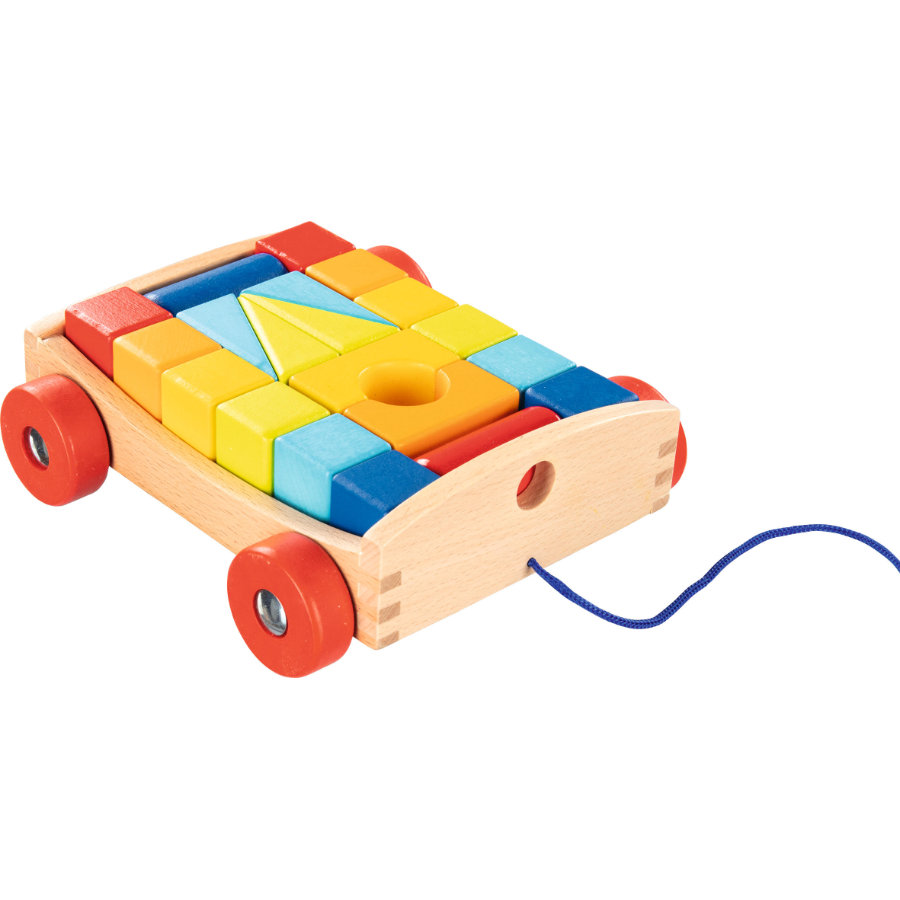 goki Tažný vozík s 20 stavebními bloky