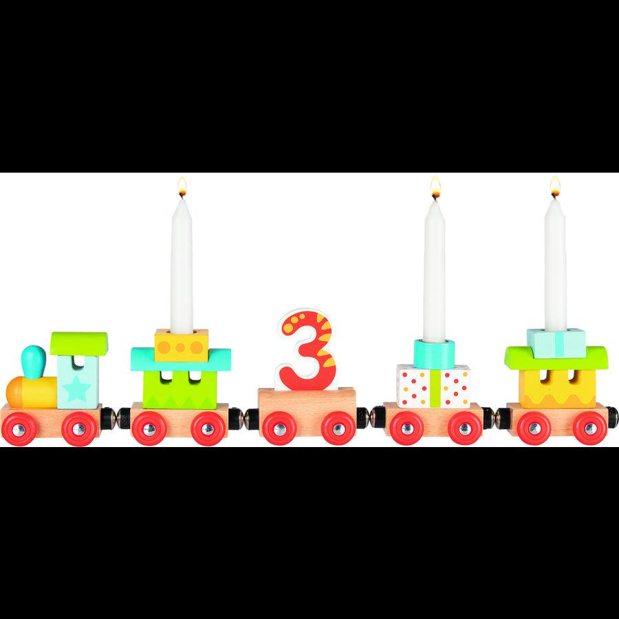 goki Geburtstagszug - Lok mit 4 Anhängern und Magnetverbindung