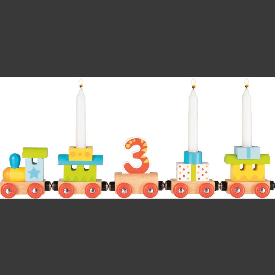 goki Syntymäpäiväjuna - veturi, jossa 4 perävaunua ja magneettiliitäntä