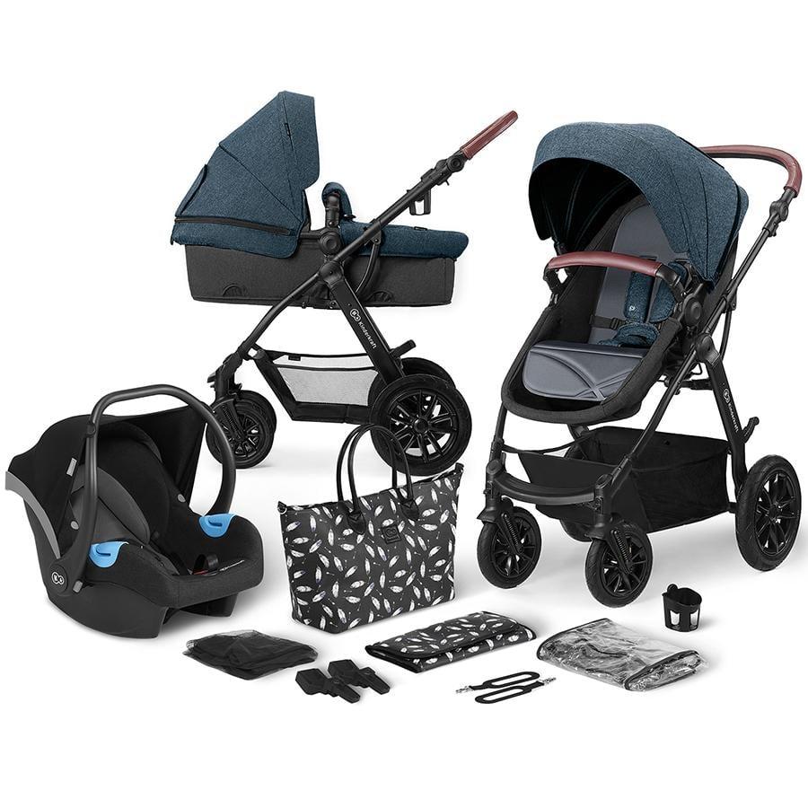 Kinderkraft Carro de bebé combi 3 en 1 XMoov Denim