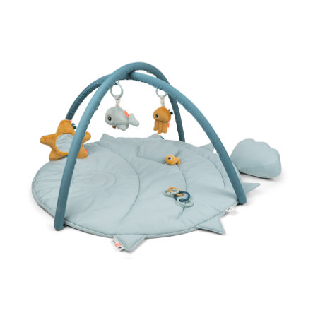 Done by Deer™ Spielbogen mit Krabbeldecke Sea friends - Blau