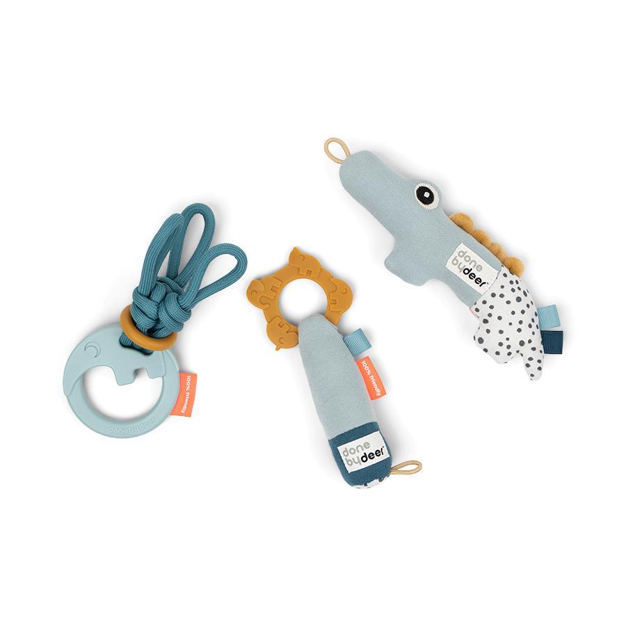 Done by Deer™ Tiny toys Geschenkset Deer friends - Blau