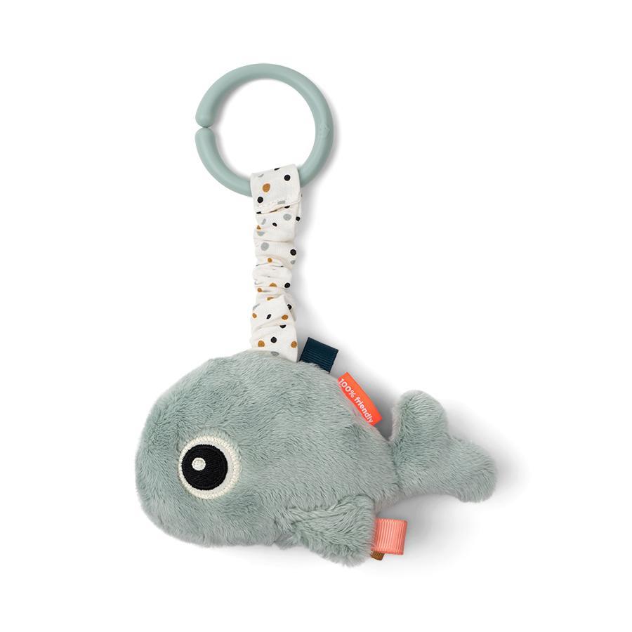 Done by Deer ™ Activity Toy ToGo Friend Whale Wally, niebieski