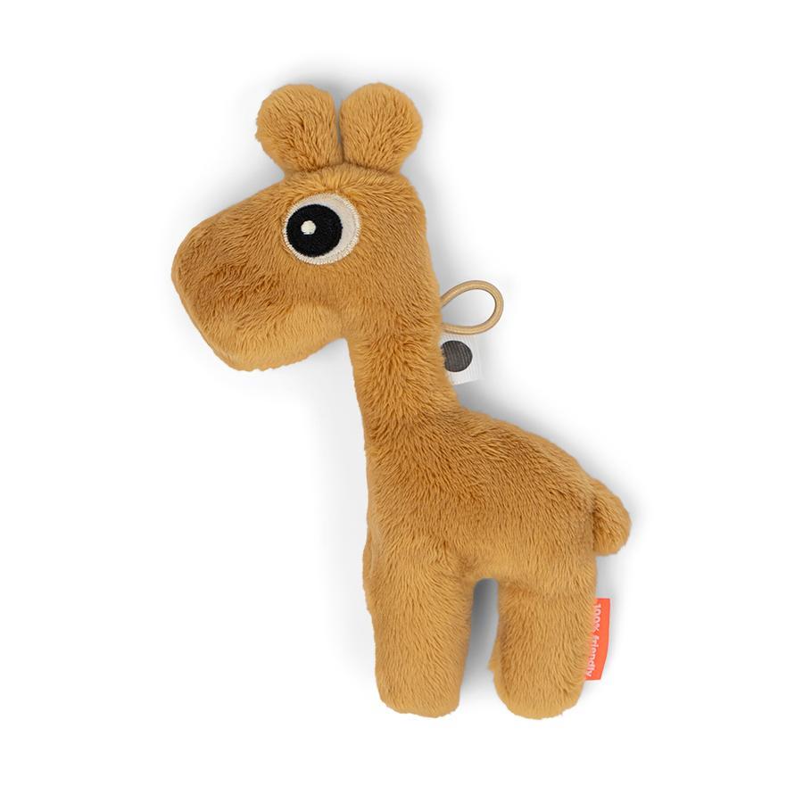 Done by Deer™ Hochet peluche Raffi girafe jaune moutarde