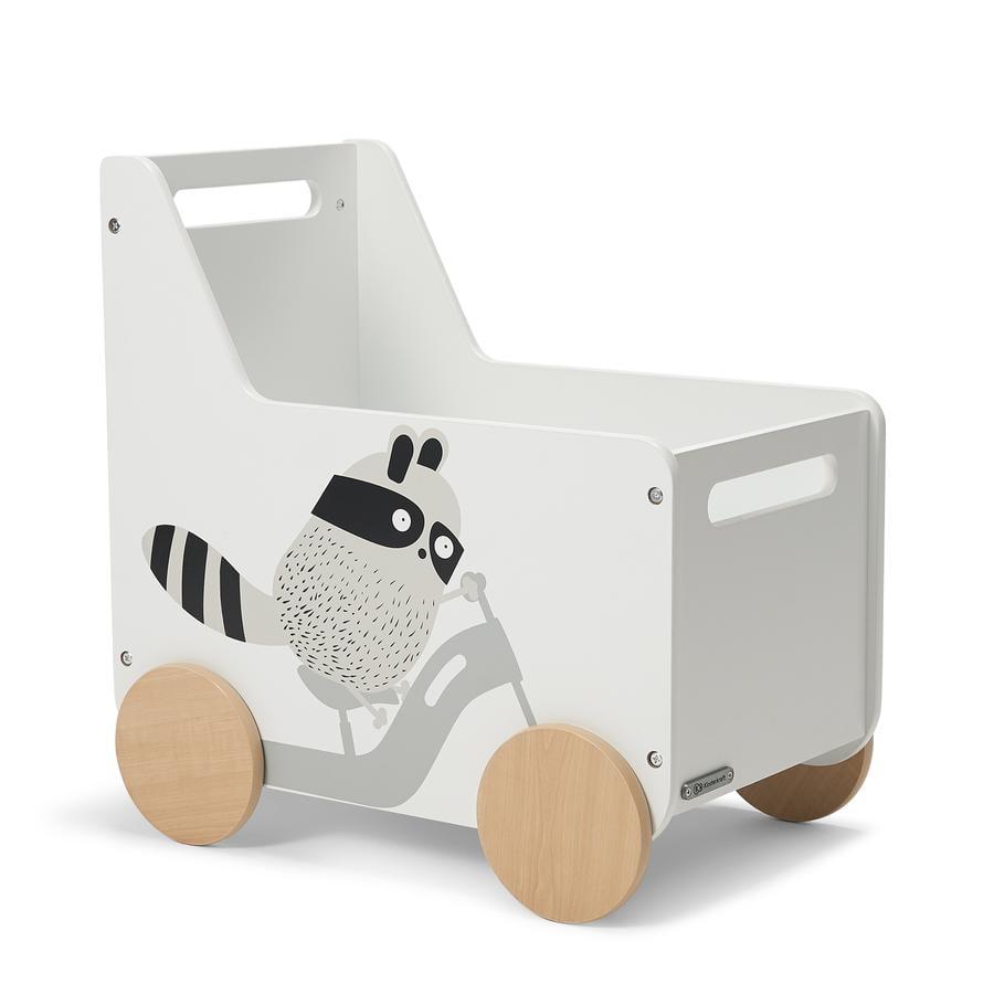 Kinderkraft Chariot enfant pour jouets Raccoon bois