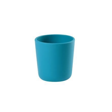 BEABA Verre enfant silicone 4 m+ bleu