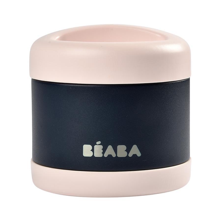 BEABA Portionsbehållare i rostfritt stål 500 ml i baltisk ljusrosa / nattblått