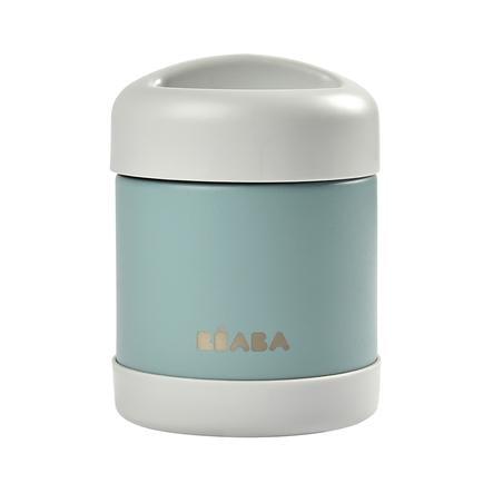 BEABA Porsjonsbeholder i rustfritt stål 300 ml i lyseblå / eukalyptusgrønn