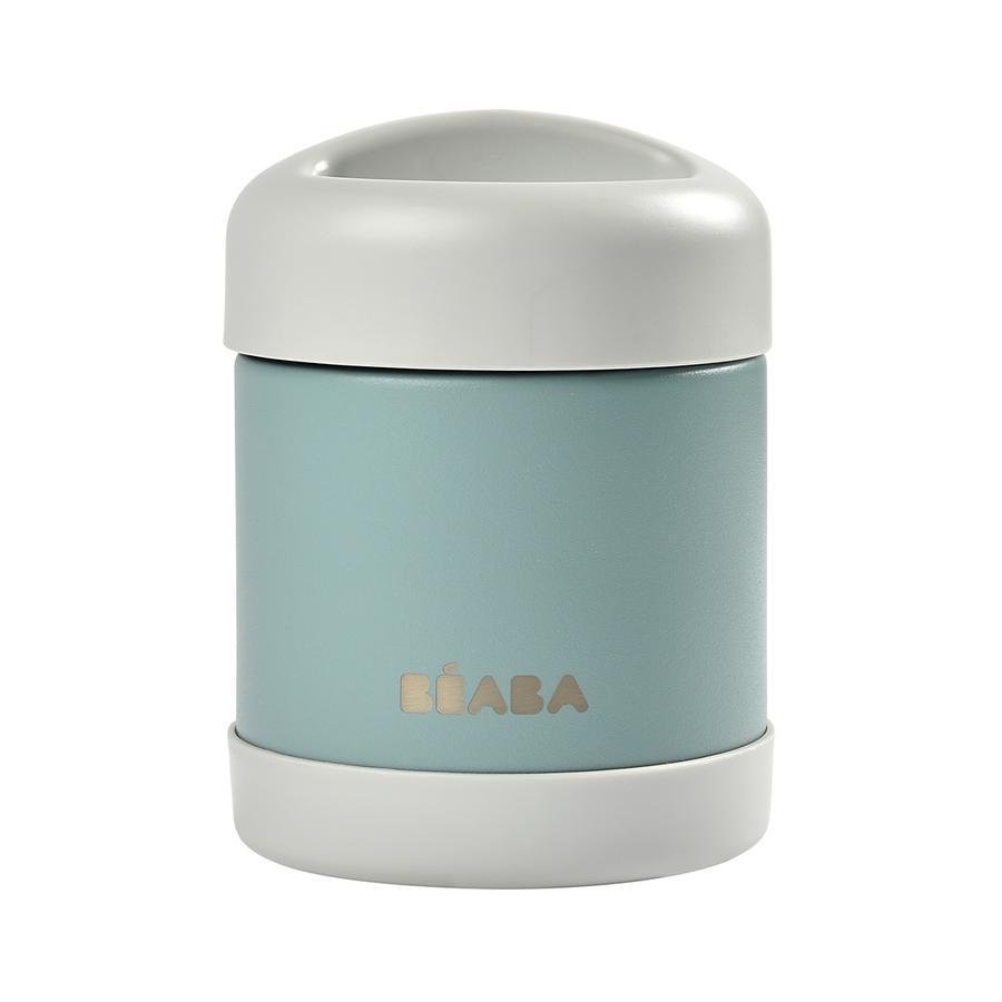 BEABA Portionsbehälter aus Edelstahl 300 ml in hellblau/eucalyptus grün