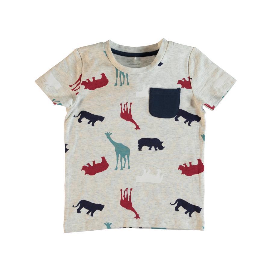name it Boys T-Shirt Gew grigio chiaro melange