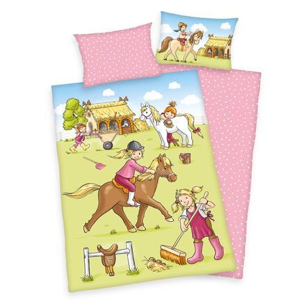 babybest® Parure de lit enfant flanelle poney GOTS 100x135 cm