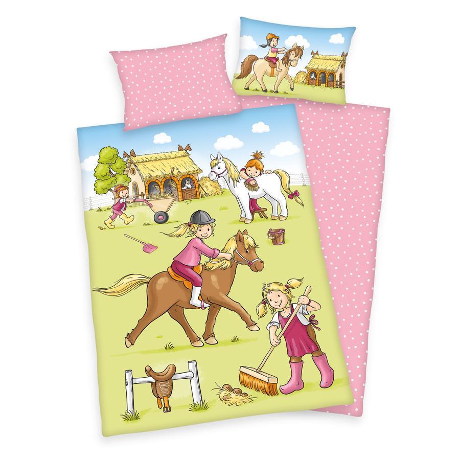 babybest® Flanell sengetøy Ponyhof GOTS 100x135 cm