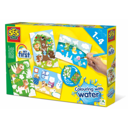SES Creative® My first Malen mit Wasser - Versteckte Tiere