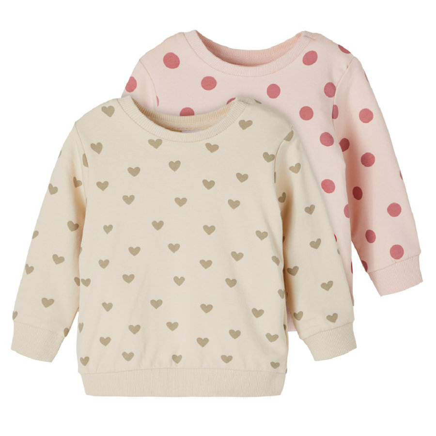 name it Sweatshirt 2-pack NBFTINNE Peach Fouet