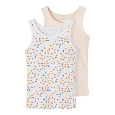 name it Tank Top 2er Pack Peach Whip