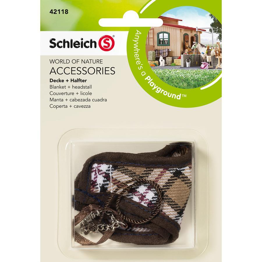 SCHLEICH Coperta + cavezza 42118