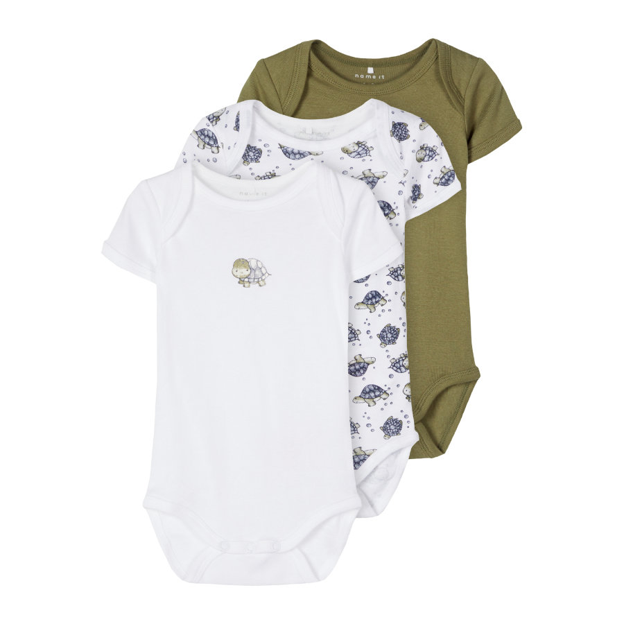 name it Body 3er Pack Loden Green Turtle