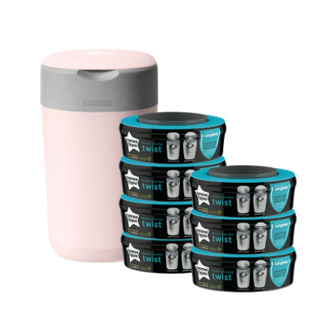 Tommee Tippee Twist & Click Luieremmer incl. 7 cassettes roze