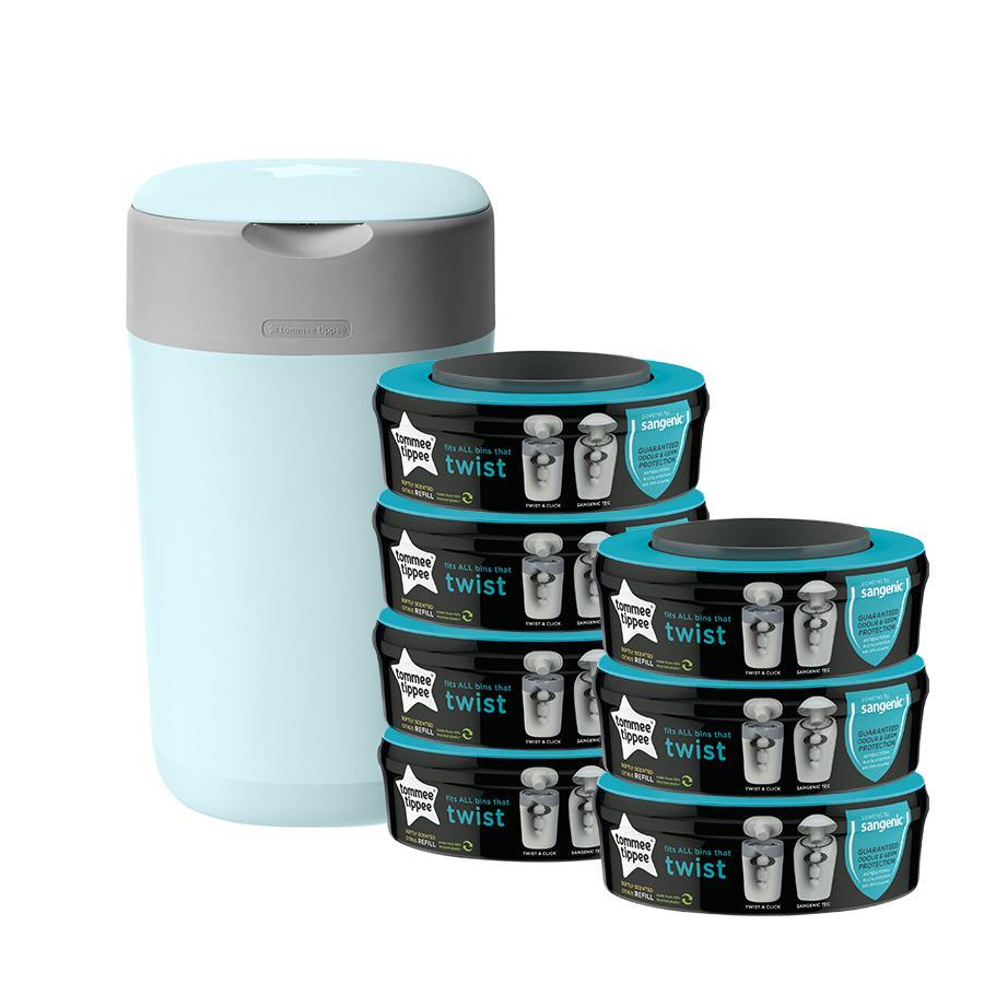 Tommee Tippee Twist & Click Windeleimer inkl. 7 Kassetten blau