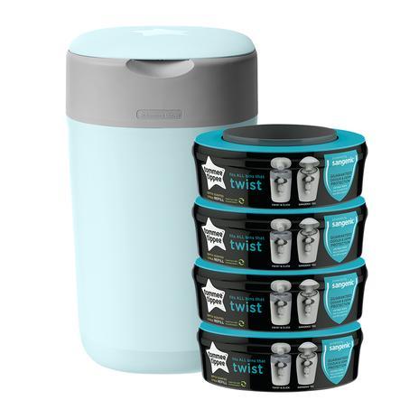 Tommee Tippee Twist & Click Windeleimer inkl. 4 Kassetten blau