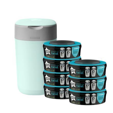 Tommee Tippee Twist & Click Cubo de pañales incl. 7 casetes verdes