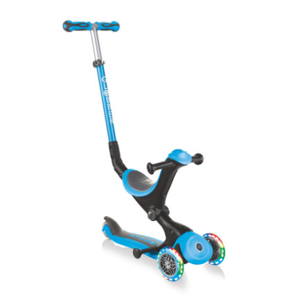 GLOBBER Scooter GO UP Deluxe lights, skyblau