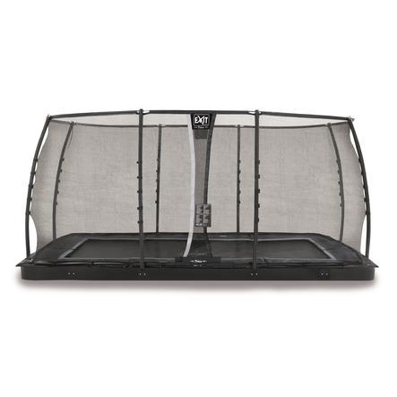 EXIT Dynamic ebenerdiges Trampolin 275 x 458 cm mit Sicherheitsnetz, schwarz