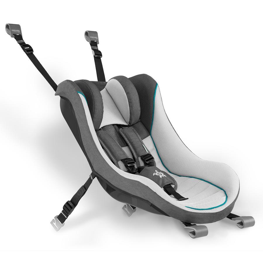 Qeridoo® Babyschale hellgrau für Kinderfahrradanhänger