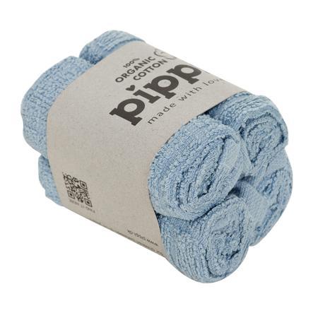 Pippi vaskekluter 4-pakning himmelsblå