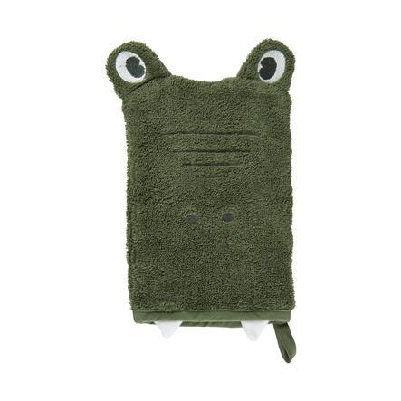 Pippi Waschhandschuh deep lichen green