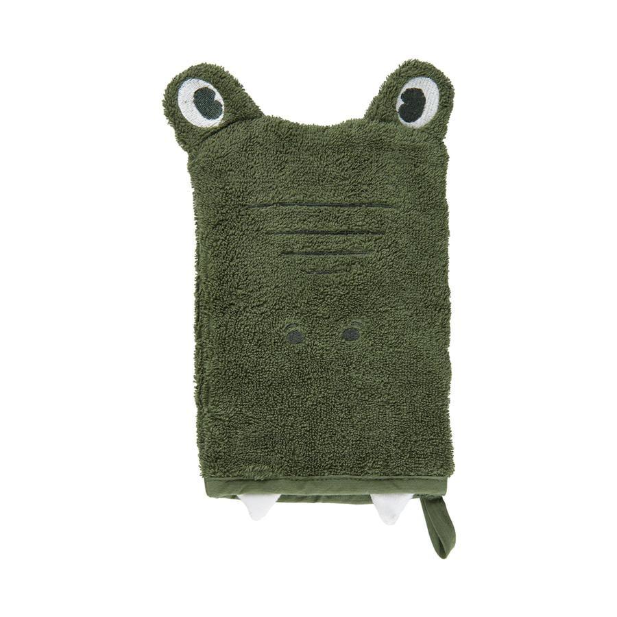 Pippi Washandschoen diep korstmossen green