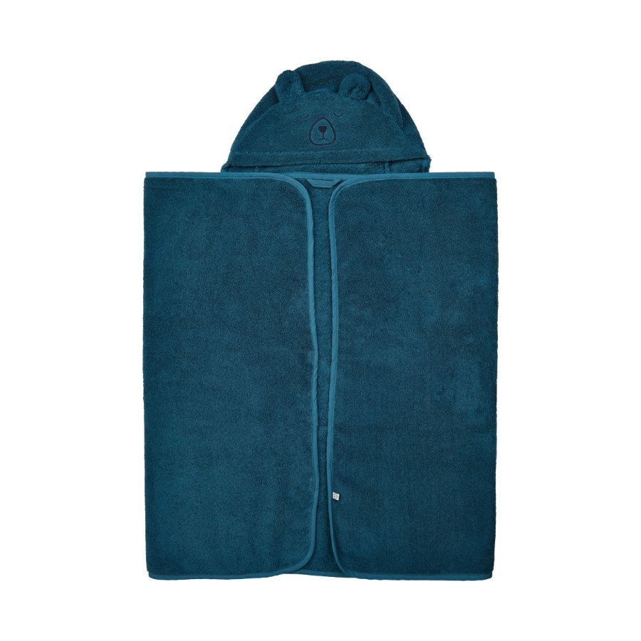Pippi Toalla de baño con capucha azul hielo 70 x 120 cm