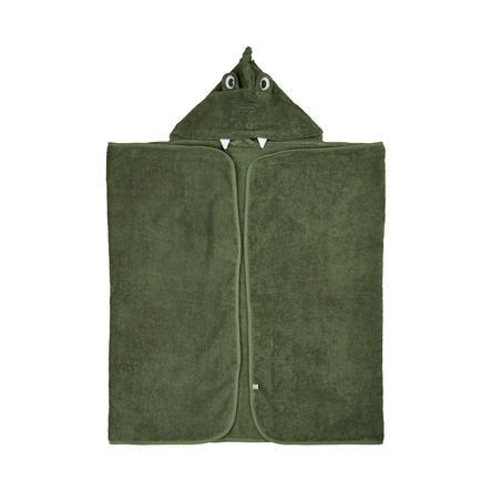 Pippi Serviette de bain à capuche lichen profond green 70 x 120 cm