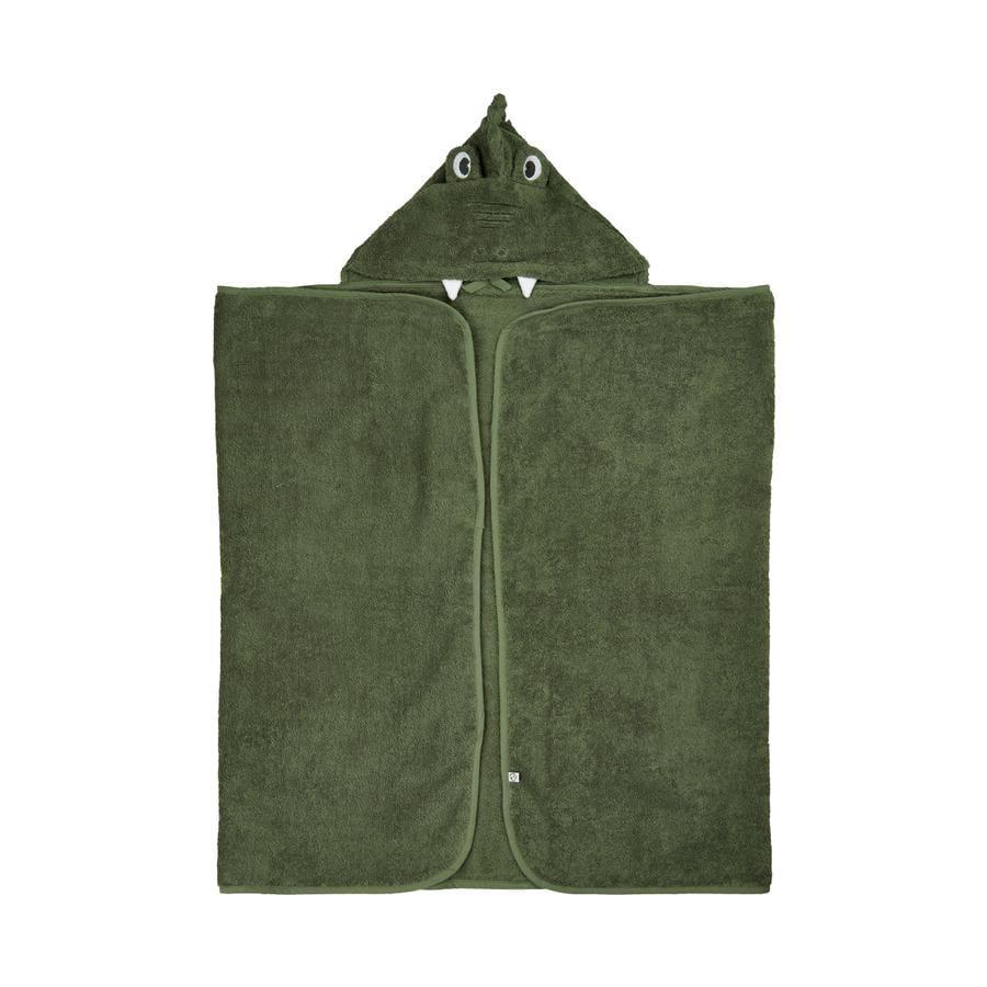 Pippi Ręcznik kąpielowy z kapturem, głęboki porost green 70 x 120 cm