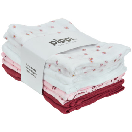 Pippi Panni di mussola 8-pack rosa barocca