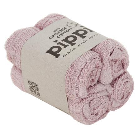 Pippi Gants de toilette 4-pack de glace violette
