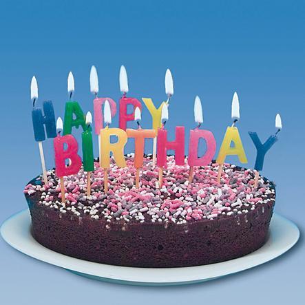 """HAPPY PEOPLE Sada svíček """"Happy Birthday"""""""