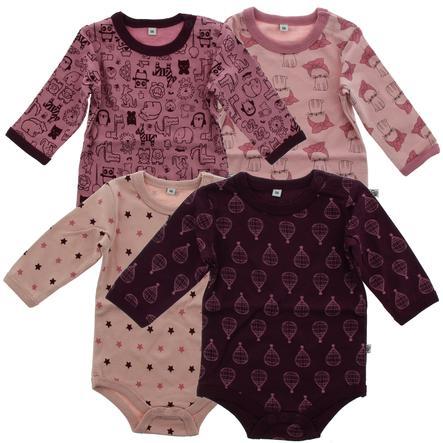 Pippi Langarm Body 4er-Pack lilac