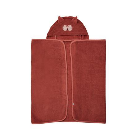 Pippi Badehåndkle med hette Marsala 70 x 120 cm