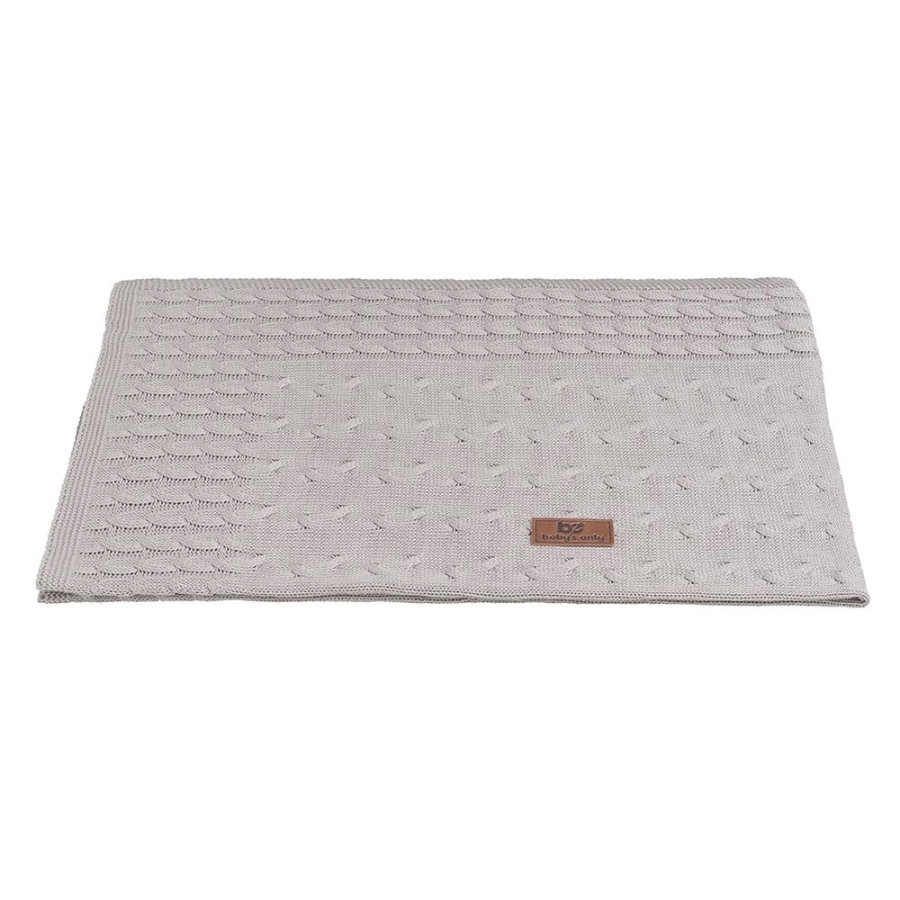 baby's only Kuscheldecke Cable grau 70x95 cm