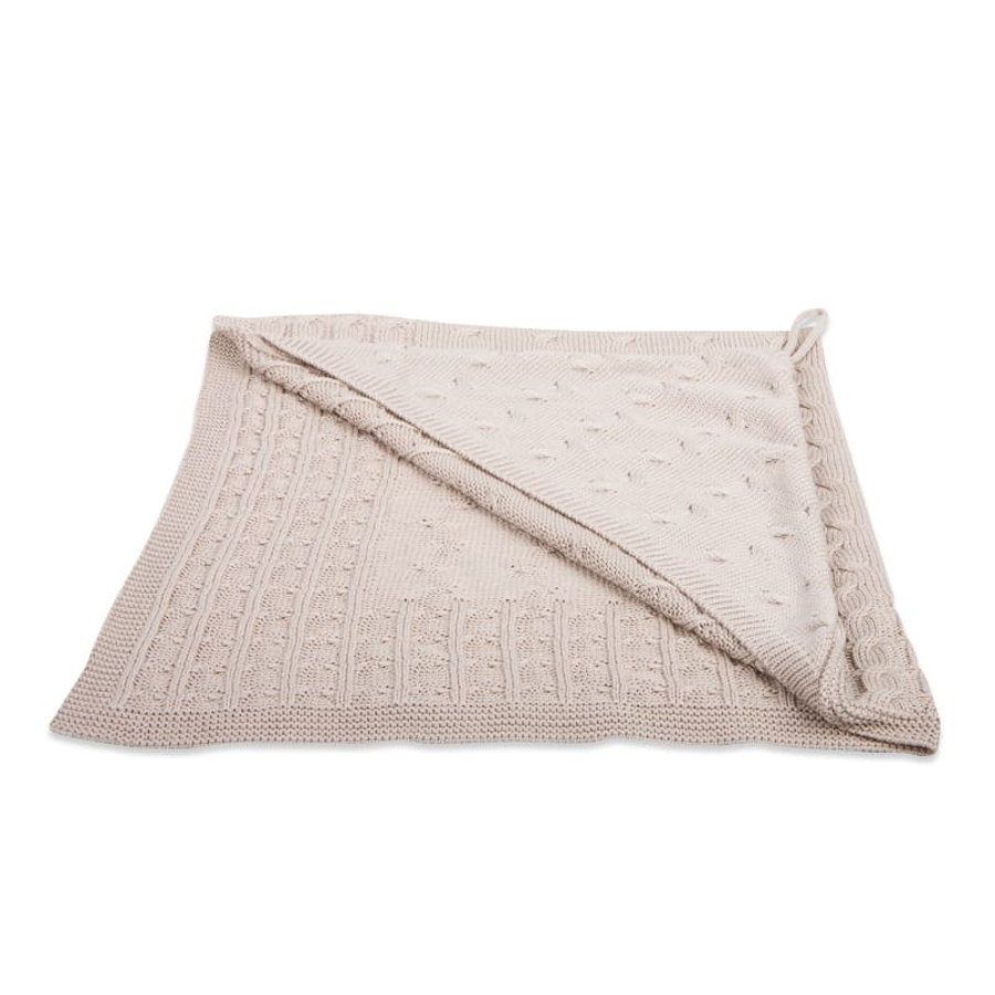 baby's only Kapuzendecke Cable beige 75x75 cm