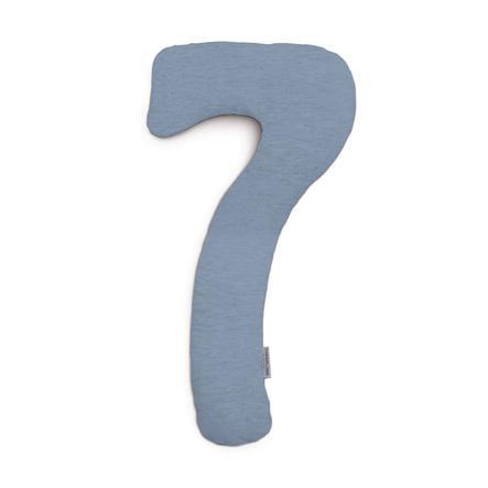 THERALINE Dekbedovertrek voor mijn7 zijslaapkussen melange blauw-grijs Bamboo -verzameling