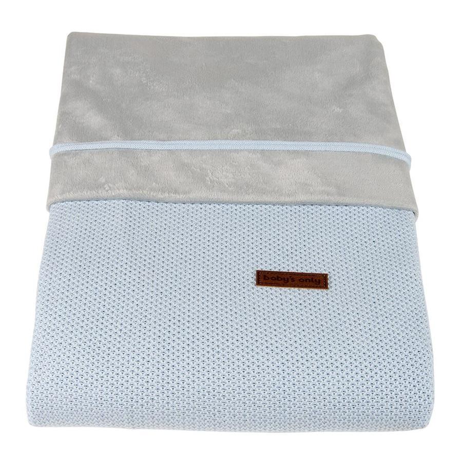 baby's only dekbedovertrek Class ic poederblauw 100x135 cm