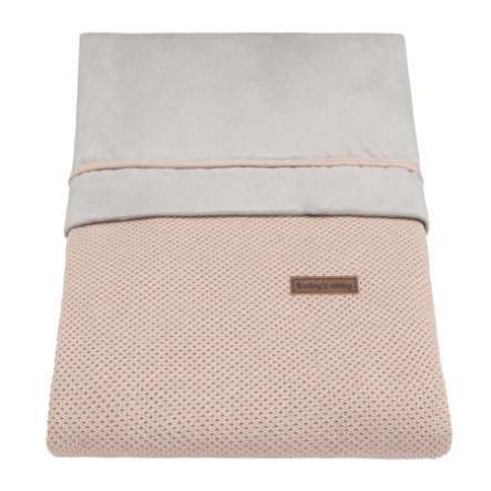 baby's only Housse de couette Classic blush rose 100x135 cm