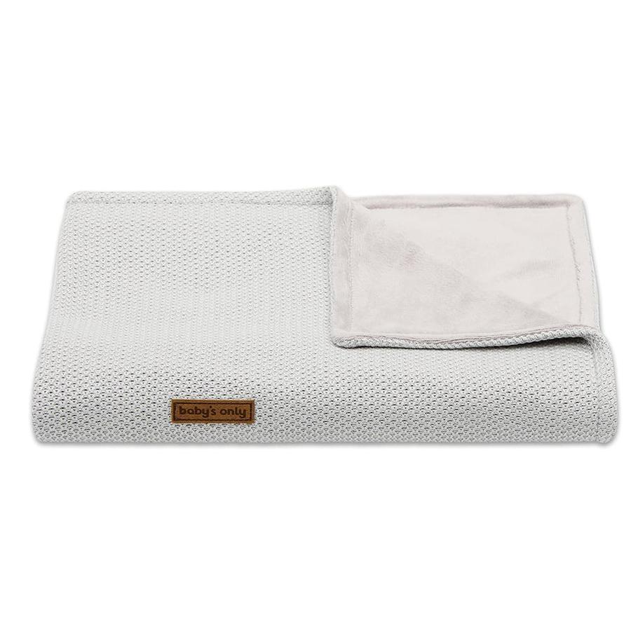Baby's only tæppe Klasse ic sølvgrå 70x95 cm