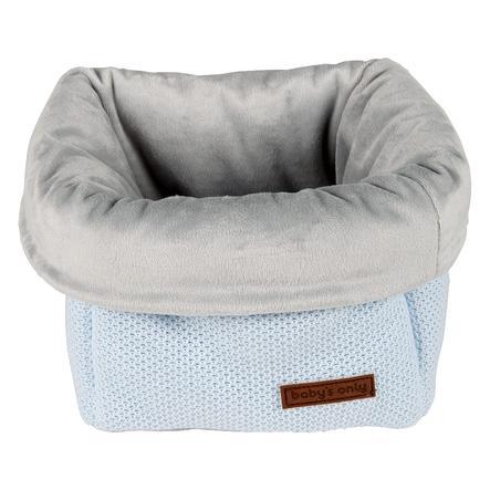 baby's only Panier de rangement pour jouets Classic bleu poudré