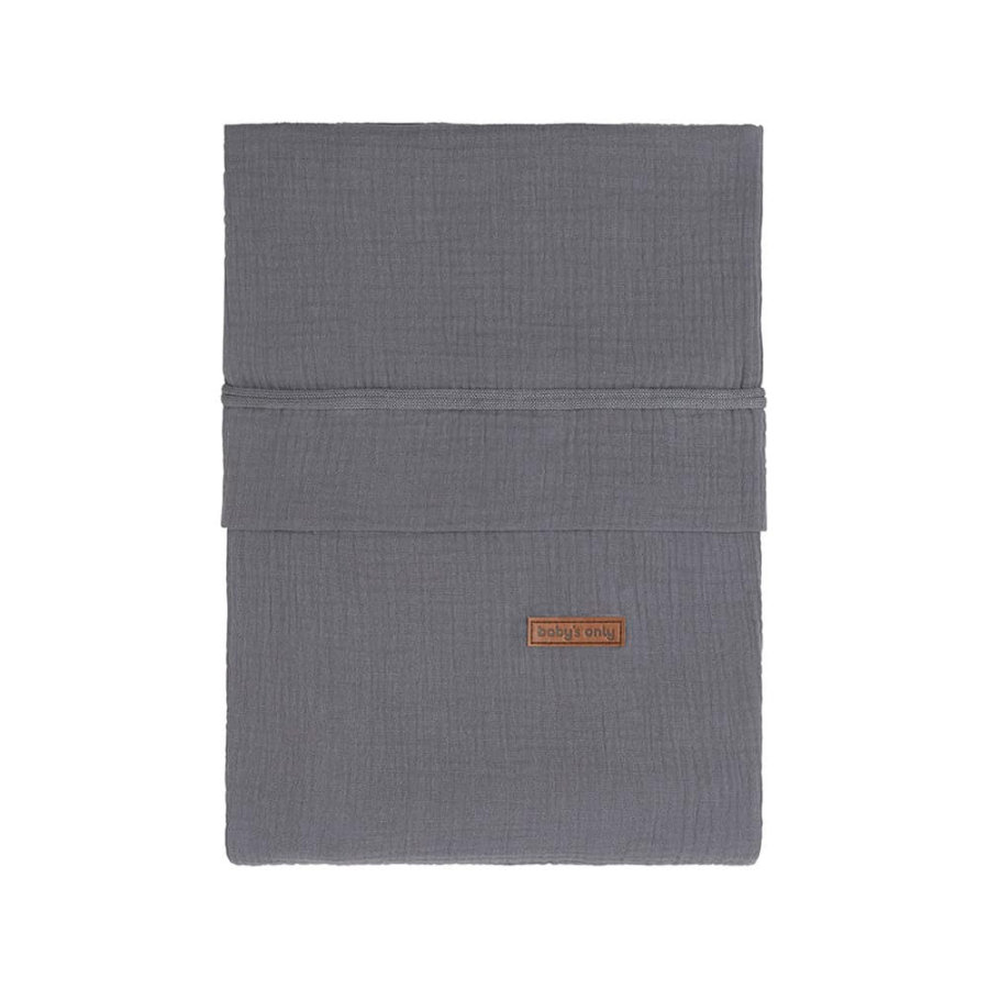 baby's only Housse de couette Breeze anthracite 100x135 cm