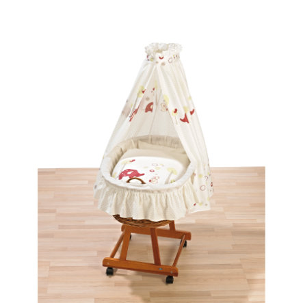 ALVI Bassinet Jola natural - Tiergarten raspberry