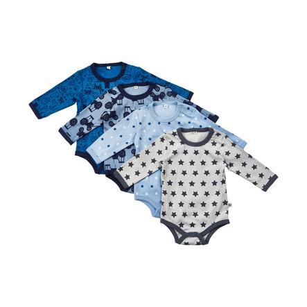 Pippi Langarm Body 4er-Pack blue
