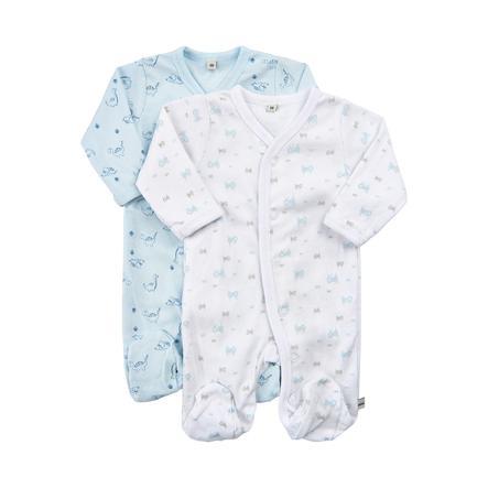 Pippi Schlafanzug mit Beinen 2er-Pack light blue